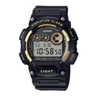 Casio Standard Digital Black Resin Strap Watch