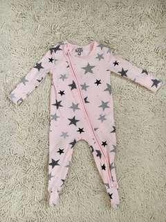 Cotton On Baby Sleepsuit in pink size 3-6months