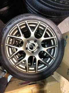 """17"""" TSW NURBURGRING WHEELS 114.3 ROTARY FORGED(staggered)"""