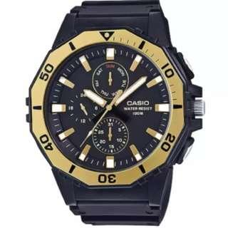 [1 LEFT SELLING FAST] Casio Men's Diver Style Black Resin Band Watch