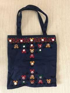 Disney米奇老鼠刺繡圖案小袋