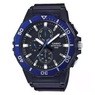 Casio Men's Diver Style Black Resin Band Watch