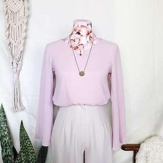 GTW Pastel Pink Office Blouse