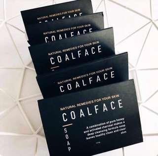 Coal face soap