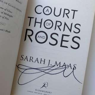SIGNED COPY: A Court of Thorns and Roses by Sarah J. Maas