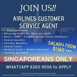 HIRING AIRPORT CHECK IN AGENTS | ROTATING SHIFTS | 5 DAYS