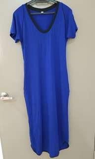 Uniqlo blue long dress