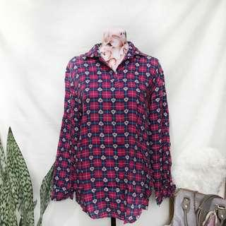 Printed Long Sleeves Button Down