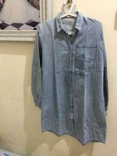 Dress Cotton ink denim