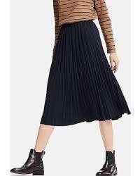 UNIQLO Grey Pleated Midi Skirt