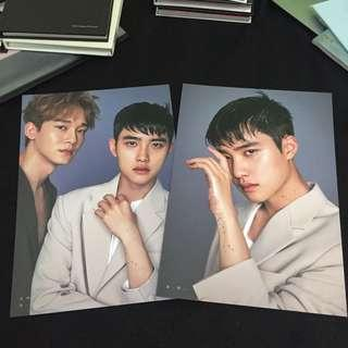 [WTS] EXO D.O CHEN MINI POSTER 2019 SEASON GREETING