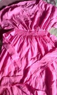 #CNY2019 dress pendek wanita pink merah muda lucu ala korea
