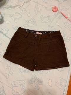 🚚 秋冬款咖啡色短褲