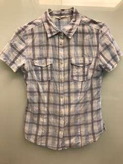 🚚 淺藍色格子襯衫