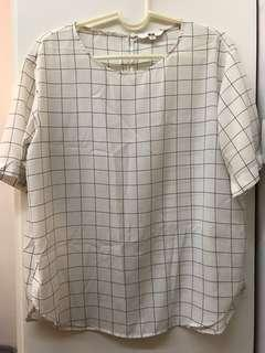 Uniqlo Grid Blouse   Cooling Material