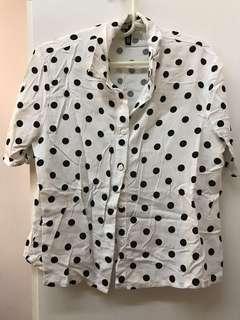 H&M Crop Top   Polka Dots