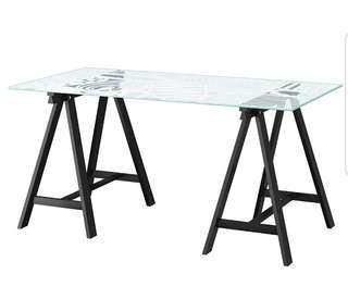 WORK GLASS TOP TABLE IKEA