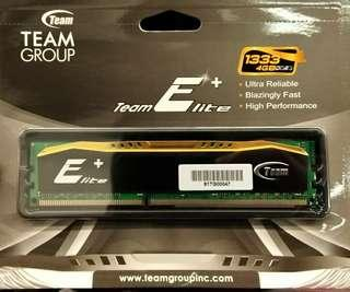 全新Teamgroup DDR3 1333 4G 終身保養