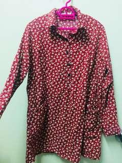 Flowers dots Blouse with Pockets #CNYRED #CNY888