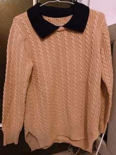 🚚 粉橘色針織長袖毛衣