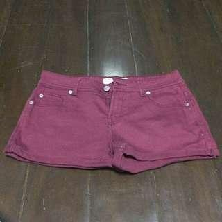 [ Preloved ] Cotton On Maroon Shorts