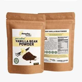 🚚 SunnyDay Naturals Ground Vanilla Bean Fair Trade FDA Approved