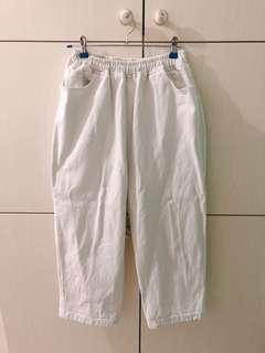 米白色boyfriend牛仔褲