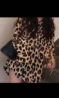 🚚 豹紋長袖襯衫