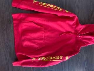 Supreme red hoodie