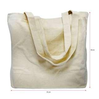 Plain Canvas Tote Bag for Home / School / Office / Grocery Shopping #MFEB20