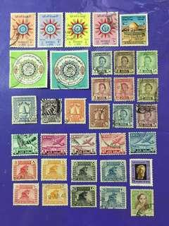 🚚 Iraq - 34 pcs Old Used Stamps