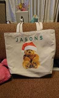 🚚 Jasons 聖誕熊 帆布袋