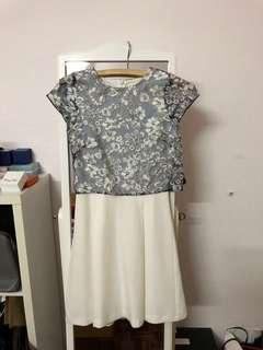 Miss Selfridge white and blue floral dress