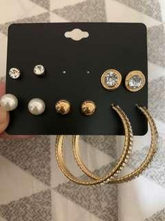 H&M Earrings Set 2
