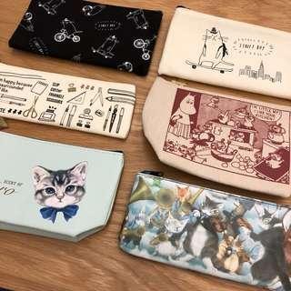 全新筆袋收納袋貓咪嚕嚕米moomin可愛文具