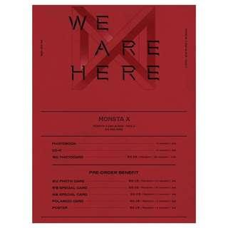 [Pre-order] MONSTA X 몬스타엑스 (2ND ALBUM 2집) - TAKE.2 <WE ARE HERE> ( 4 vers. )