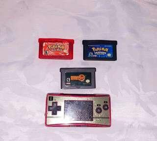 Valentines Sale! Gameboy Micro Famicom Edition with Games
