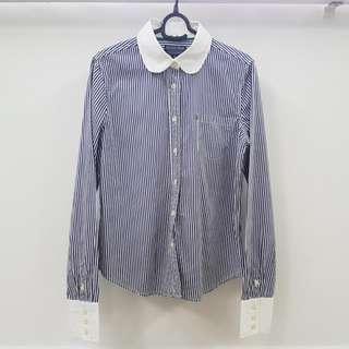 Polo Ralph Lauren Shirt Ladies / Striped Collar Long Sleeves Shirt Women