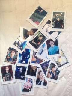 chanyeol mini polaroids