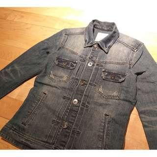 All saints blue denim jacket