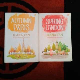 Novel best seller ilana tan (autumn in paris & spring in london)