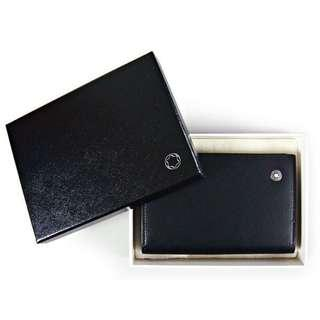 Mont Blanc Leather Wallet and Card Holder Black