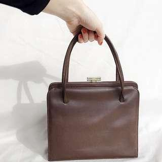 Brown Pleather Handbag