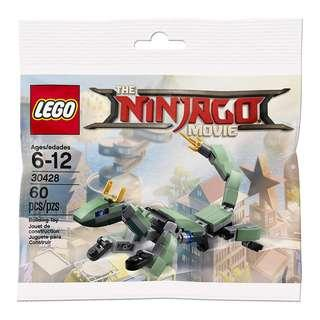 🚚 [Unicque] Lego 30428 Ninjago Movie polybag - Green Ninja Mech Dragon
