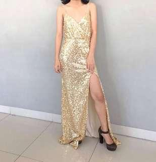 For RENT: Gold Evening Gown