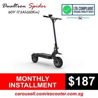 Dualtron Spider 60V 17.5 LG MJ1 Electric Scooter (LTA Compliant)