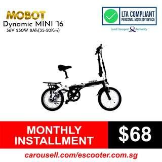 "Mobot Dynamic MINI 16"" Electric Bicycle (LTA Compliant)"