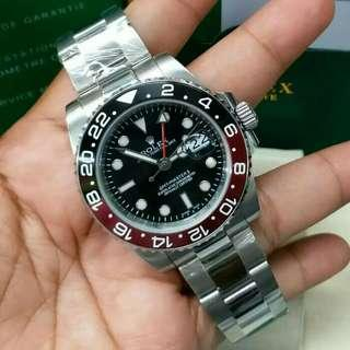 Jam Tangan Pria Rolex GMT Master II Red Black