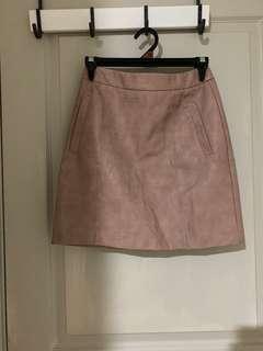 Sheike leather skirt