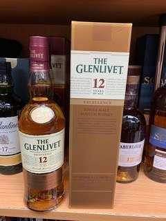 Glenlivet12年威士忌